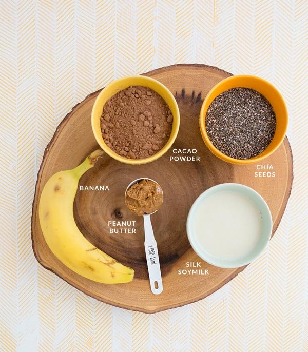 Chocolate Peanut Butter Chia Breakfast Parfait