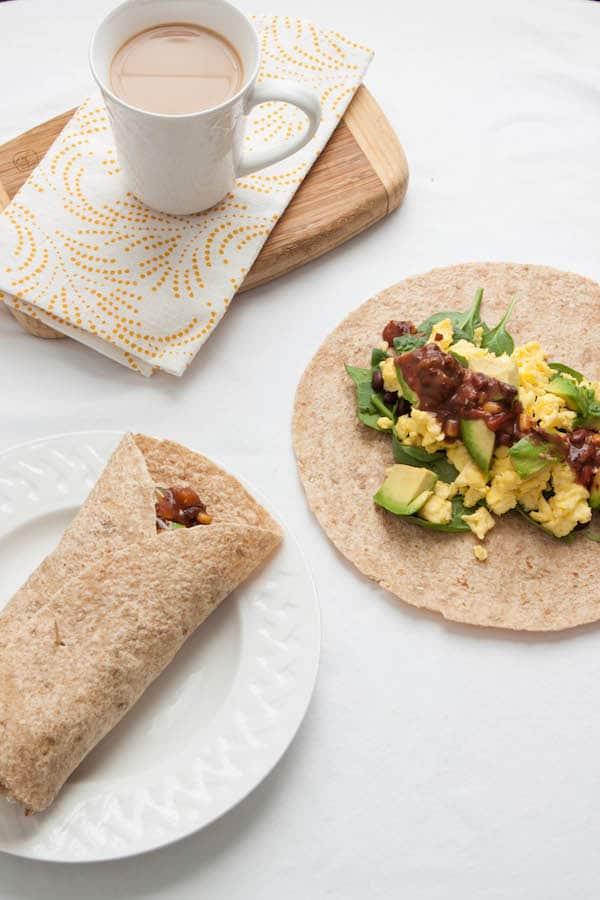 5 Minute Breakfast Burritos
