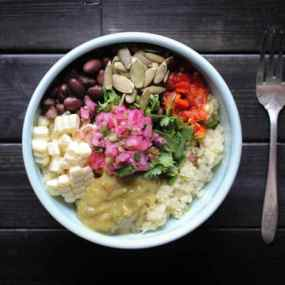 Lunchbox-Friendly Mexican Cauliflower Rice Salad