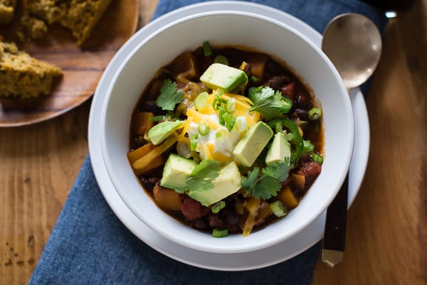 Slow Cooker Butternut Squash Chili with Porter