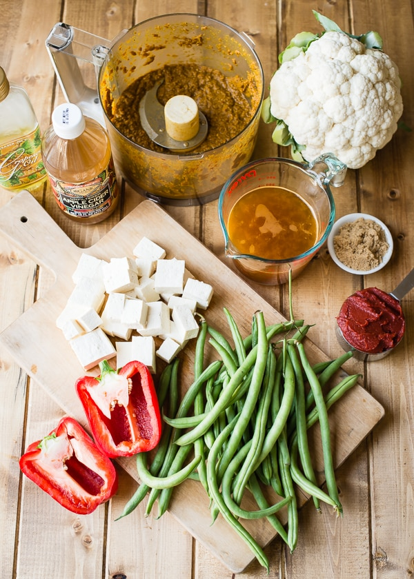 Tofu Vindaloo Ingredients