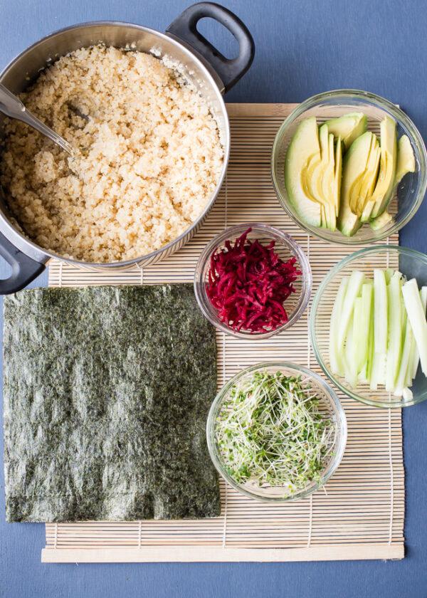 Quinoa Sushi Roll Ingredients