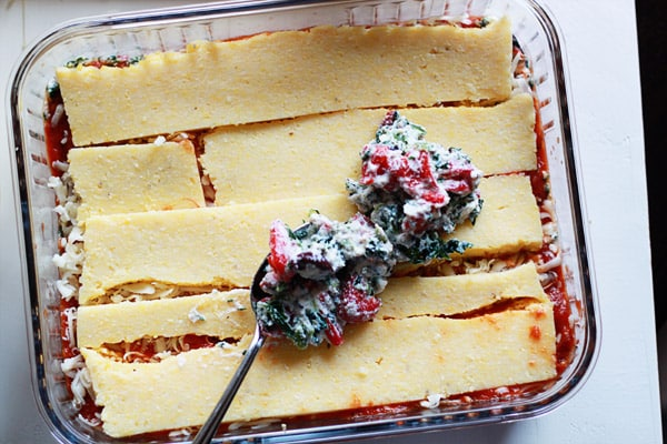 Greek Polenta Lasagna