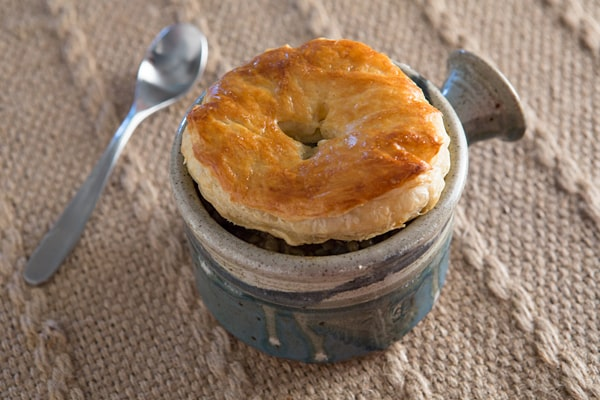 Mushroom Thyme Lentil Pot Pies