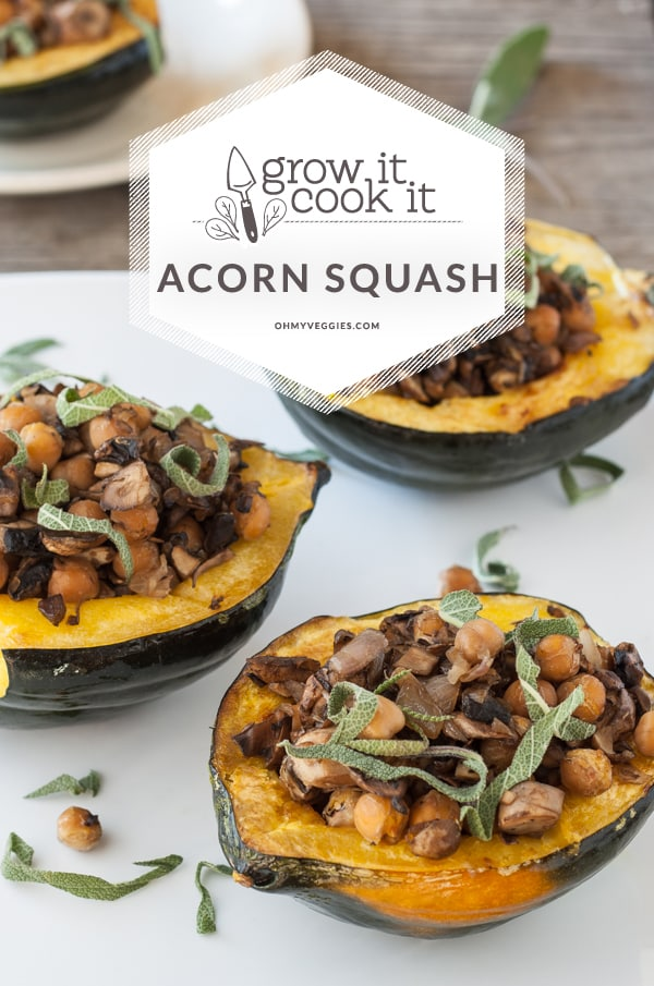 Stuffed Acorn Squash with Mushrooms and Chickpeas