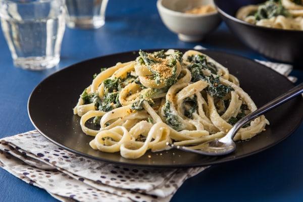Vegan Fettuccine Kalefredo Recipe