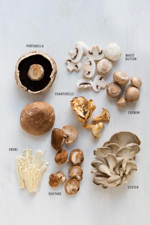 Common Types of Fresh Mushrooms