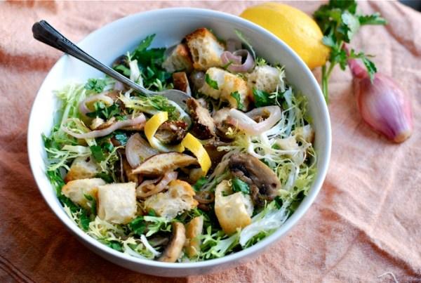 Frisee Salad with Roasted Mushrooms