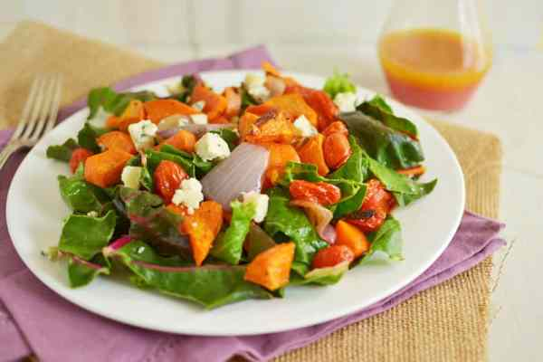 Sweet Potato Salad with Blood Orange Vinaigrette