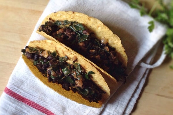 Beans and Greens Tacos
