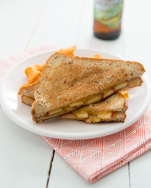 Maple Sage Apple and Cheddar Grilled Cheese Sandwiches