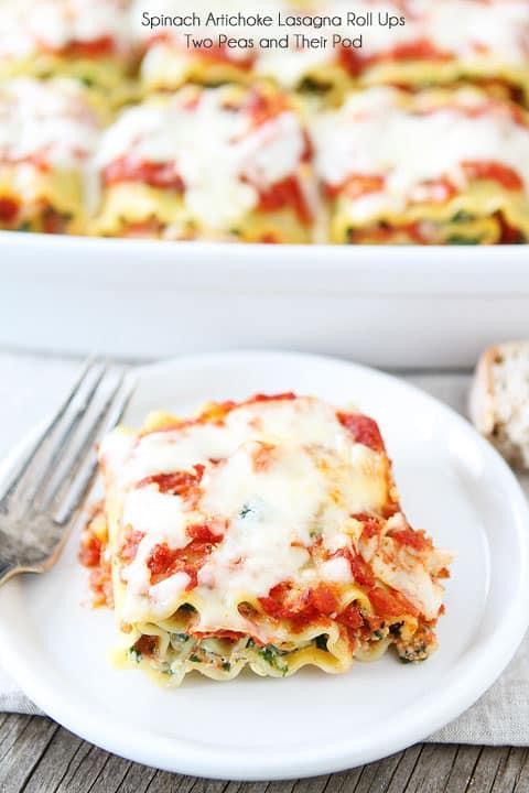 Spinach Artichoke Lasagna Roll-Ups