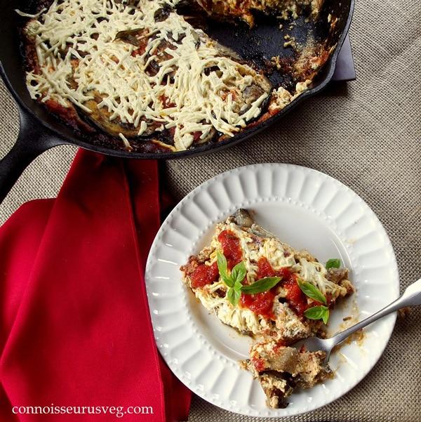 Vegan Skillet Eggplant Lasagna
