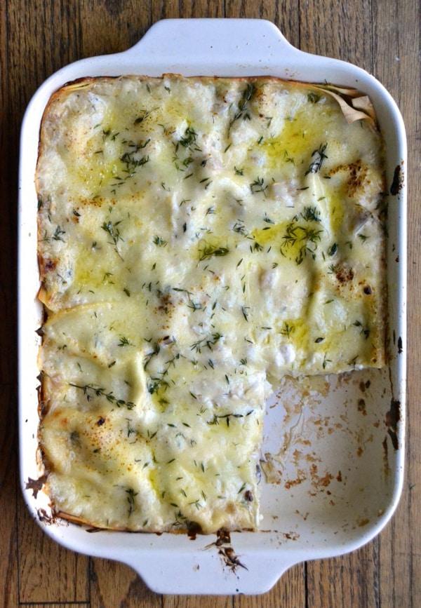 White Mushroom Lasagna