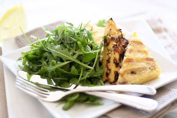 Grilled Polenta with Walnuts and Bleu Cheese - The Healthy Foodie