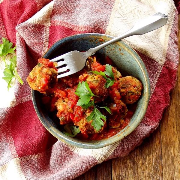 Cannellini Bean and Broccoli Rabe Meatballs