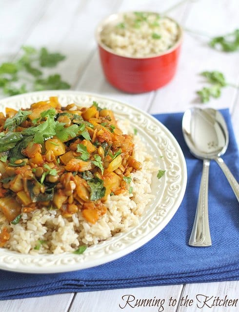 Red Curry Vegetable Lentils