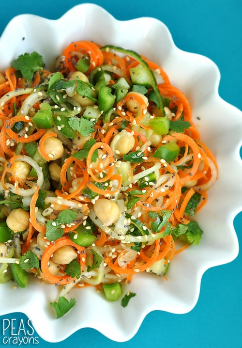Sweet and Sour Thai Cucumber Pasta Salad