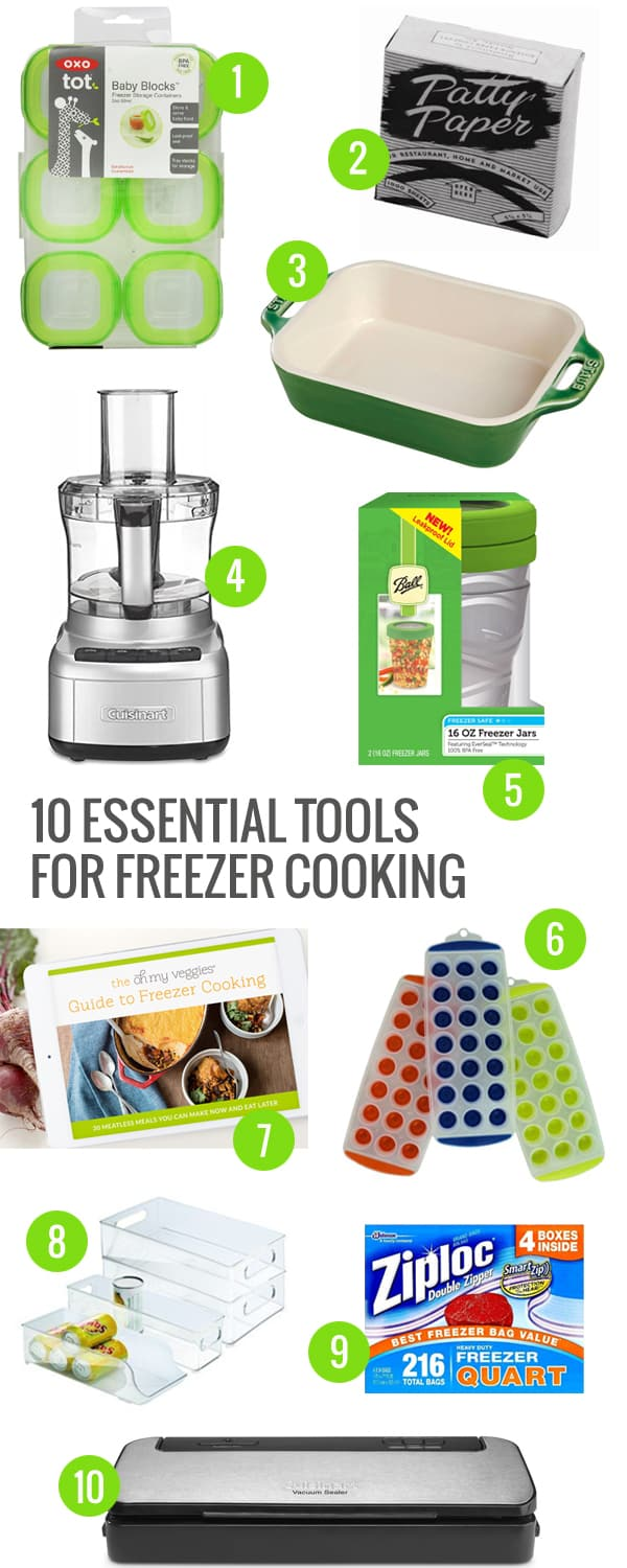 10 Essential Tools for Freezer Cooking - Oh My Veggies