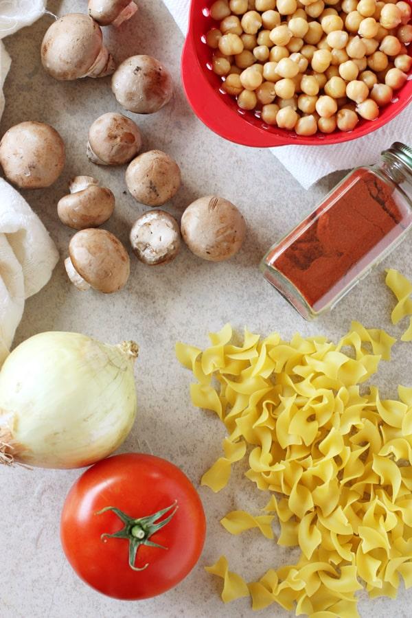 Mushroom Chickpea Paprikash