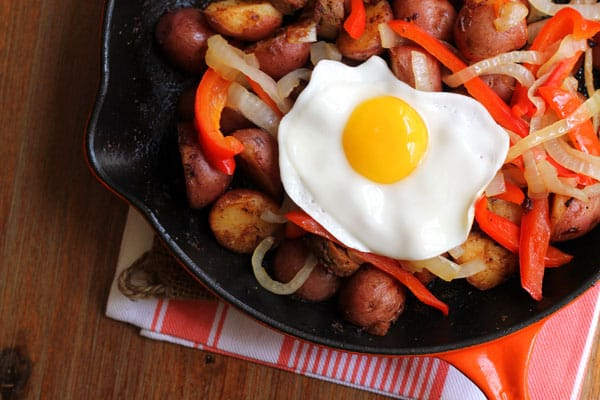 Spanish Eggs with Chorizo and Peppers