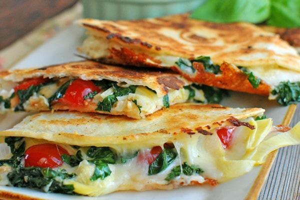 Artichoke Kale and Mozzarella Melt