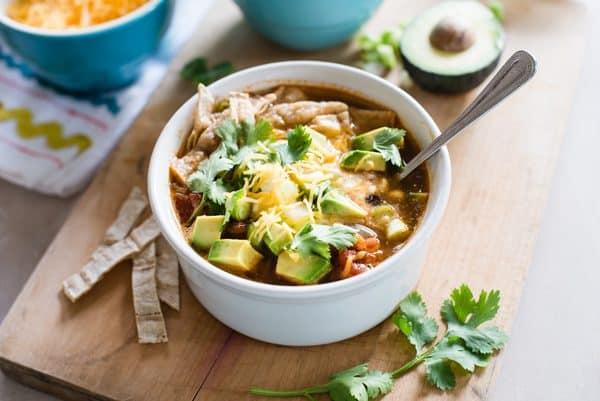 Make & Freeze Slow Cooker Veggie Tortilla Soup Recipe