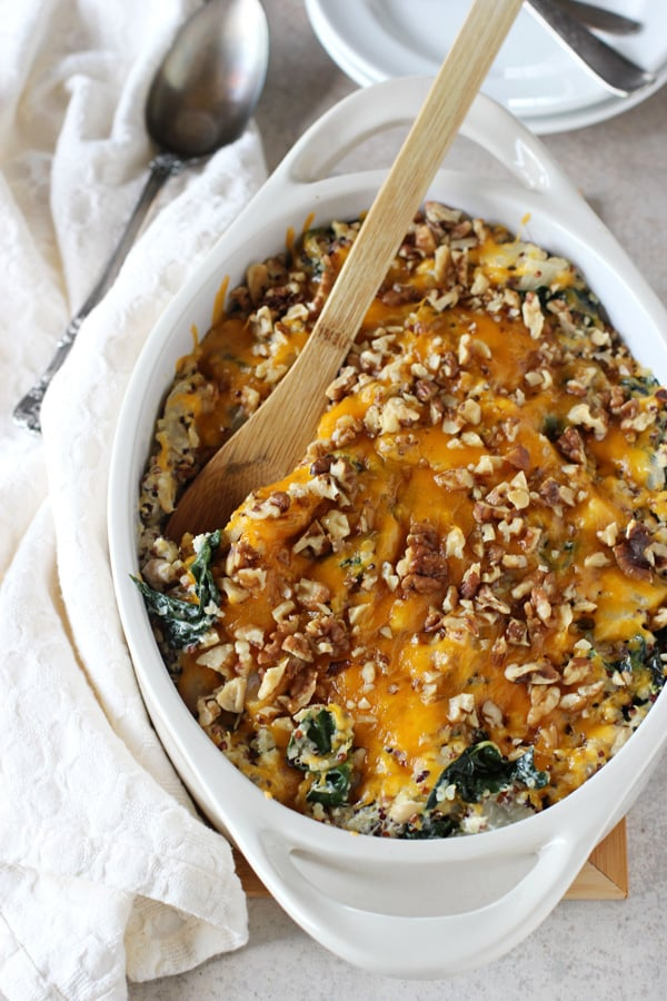 Cheesy Kale and Quinoa Casserole