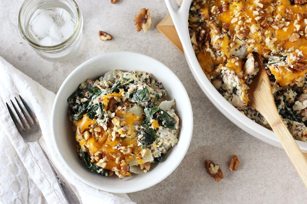 Cheesy Kale and Quinoa Casserole
