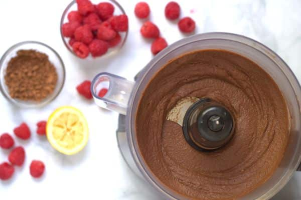 Raw Chocolate Raspberry Cheesecake Parfait Ingredients