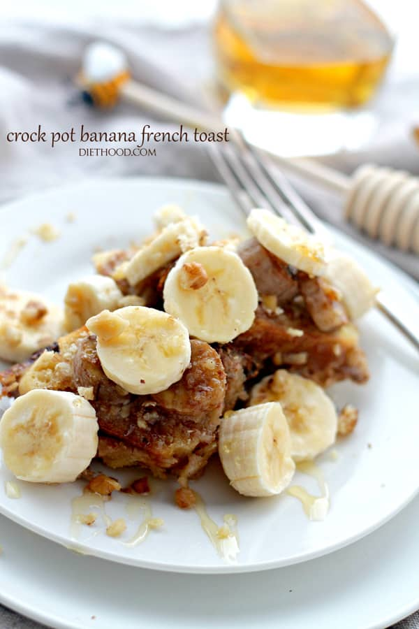 Crockpot Creamy Banana French Toast