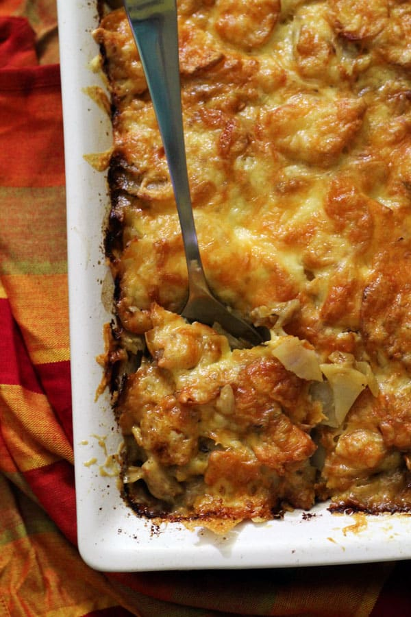 Potato, Caramelized Onion & Leek Gratin