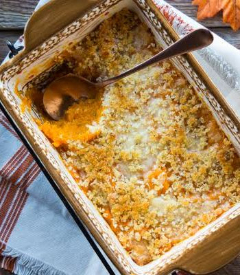 Butternut Squash Casserole with Parmesan-Panko Topping Recipe