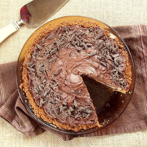 Toffee-Crusted Mud Pie