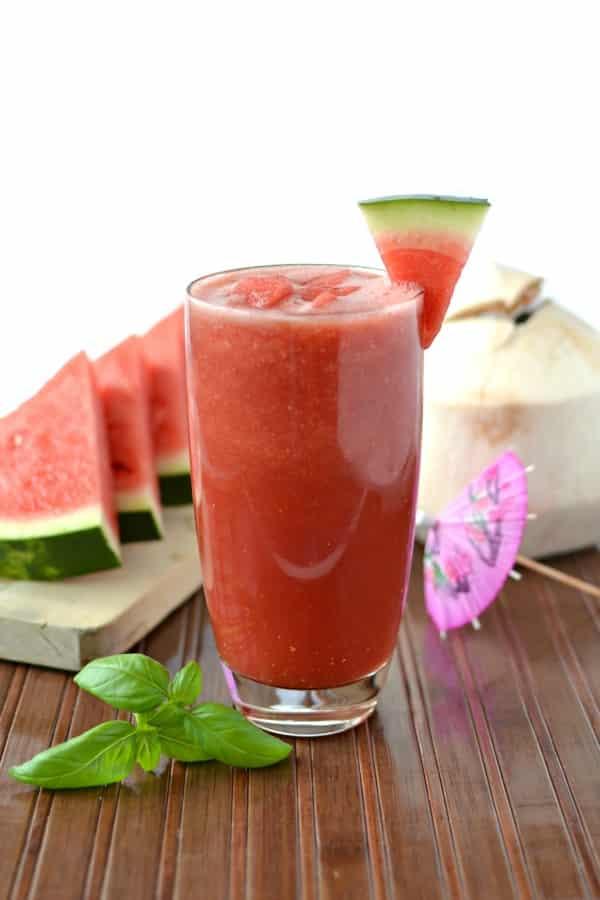 Watermelon Basil Smoothie