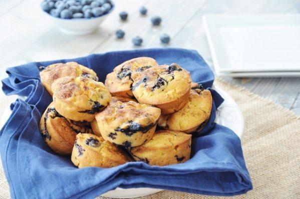 Corn & Blueberry Muffins