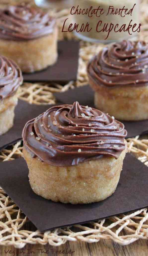Chocolate Frosted Lemon Cupcakes