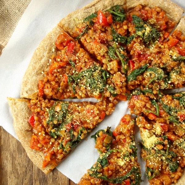 Spinach Lentil Tomato Pie