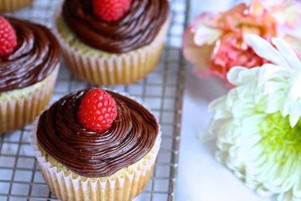 Raspberry Vodka Cupcakes