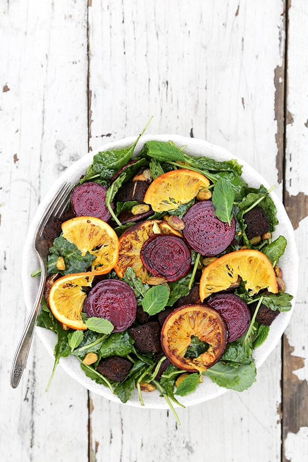 Rosted Beet and Orange Panzanella Salad