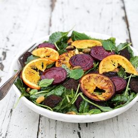 Roasted Beet and Orange Panzanella Salad