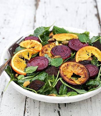 Roasted Beet and Orange Panzanella Salad