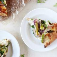 Roasted Asparagus and Arugula Pizza