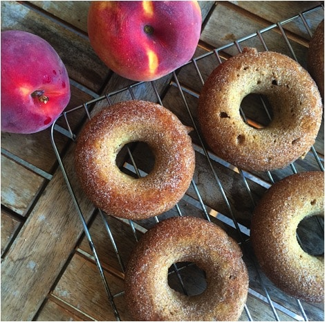 Roasted Peach Donuts