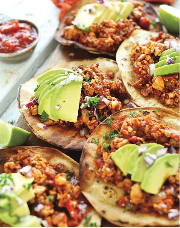 Spicy Braised Tofu Tostadas