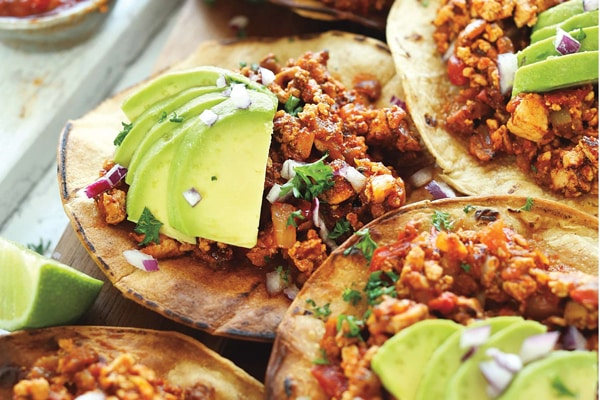 Spicy Braised Tofu Tostadas Recipe