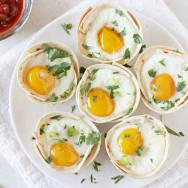 Huevos Rancheros Tortilla Breakfast Cups