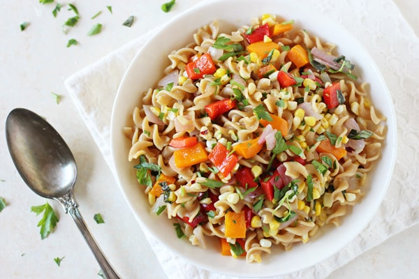 Bell Pepper and Corn Pasta Salad