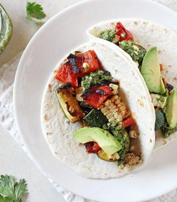 Grilled Veggie Tacos with Chimichurri Recipe