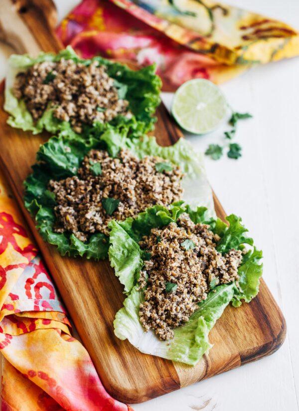 Tofu Larb Lettuce Wraps